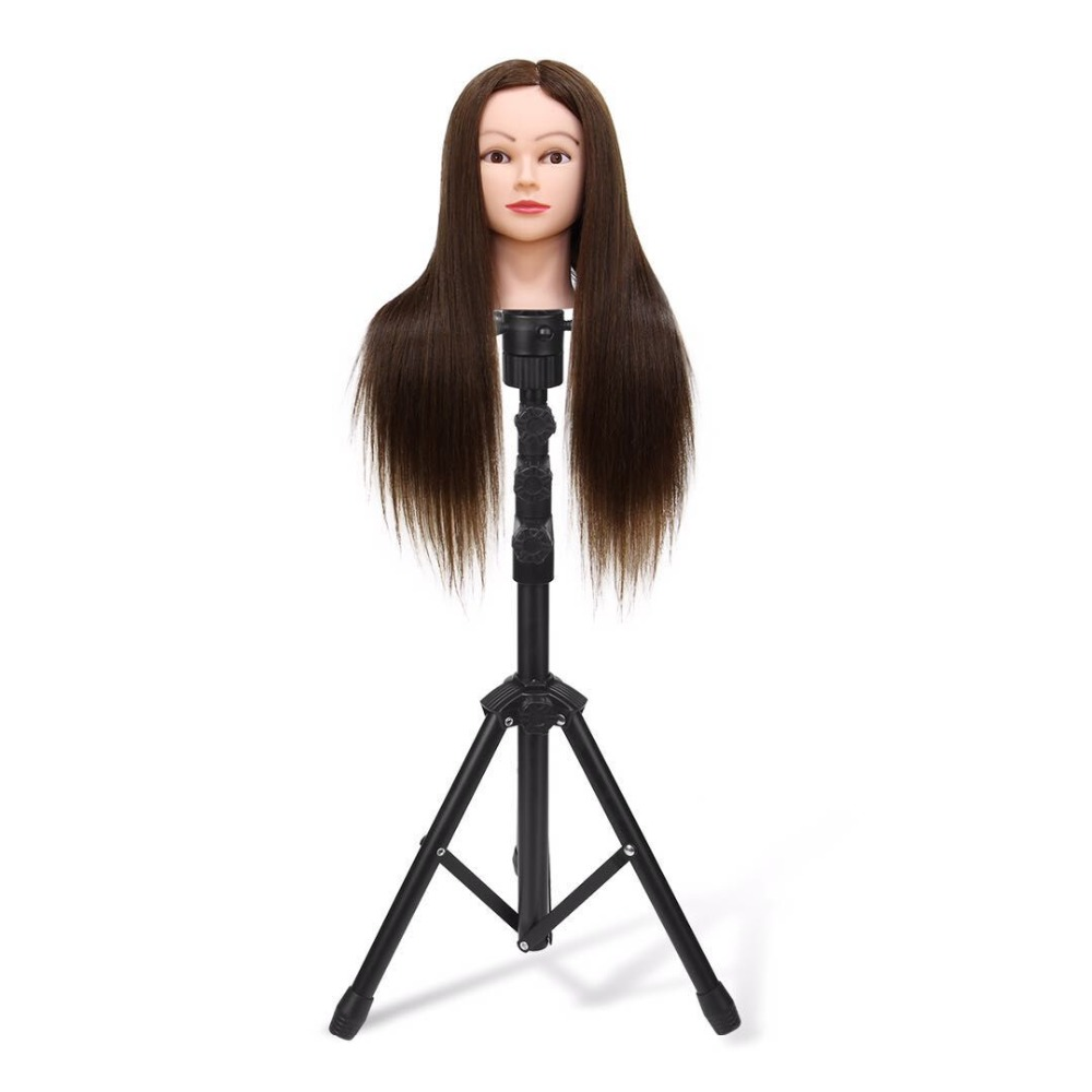 Adjustable Mannequin Head Tripod Shelf Bracket,Hairdressing Training Holder Stand,Salon Mannequin Head Bracket, Wig Stand steel mannequin tripod stand hair salon adjustable tripod wig stand hairdressing training head clamp holder