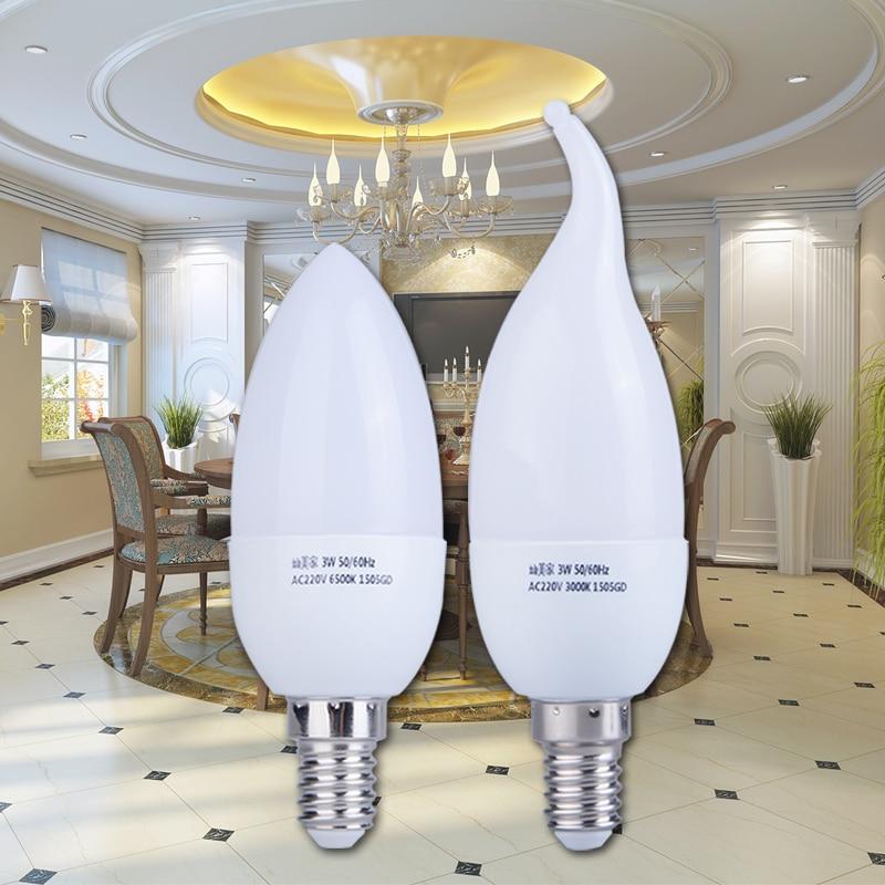E14 Led Bulb 220V Candle Bulbs Energy Saving Lamp Lights 3W 5W Leds Chandelier Light Spotlight Bombilla Led for Home Decoration led gold deco chandelier bulbs candle light e14 85 265v 5w lamps