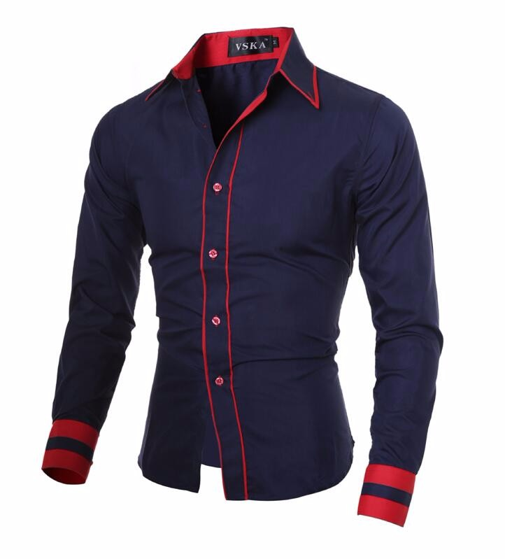 Men Shirt 17 Fashion Brand Men'S Cuff Striped Long-Sleeved Shirt Male Camisa Masculina Casual Slim Chemise Homme XXL SHDWQ 11