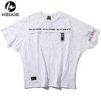 HZIJUE Mens T Shirt Tops Tees Fitness Hip Hop Men Cotton Tshirts Homme 2018 Printing Clothing