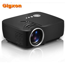 Gigxon-G700 Portable 1200 Lumens High Power LED Light Source Full HD Projector Video Home Cinema Support 5.1 Stereo Audio Output