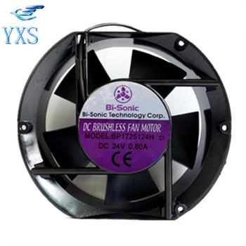 BP1725124H DC 24V 0.8A 19.2W 3400RPM 17251 17CM 172*150*51mm Double Ball Bearing Aluminum Frame Cooling Fan