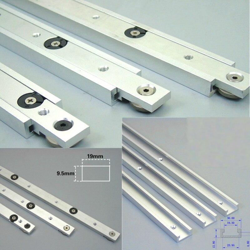 Liga de alumínio t-faixas entalhe faixa de mitra e barra de mitra slider tabela viu mitra calibre haste carpintaria ferramenta durável em uso