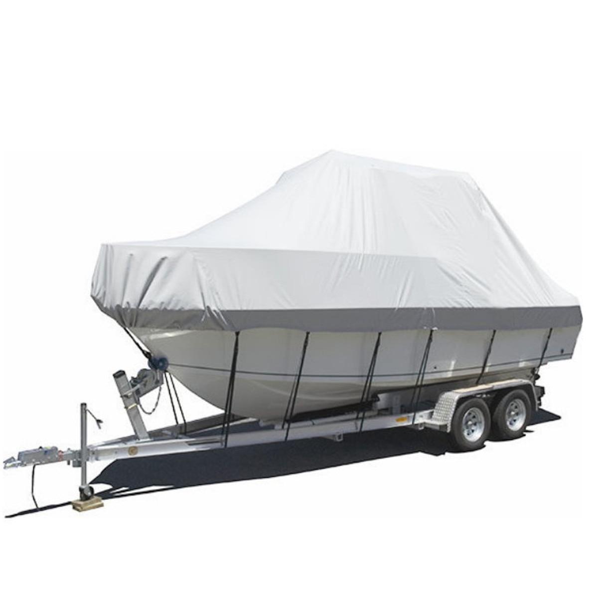 19-20ft 5.8-6.1m bateau couverture bateau marin Yacht nouvelle conception Premium robuste 600D remorquable Jumbo bateau couverture - 3