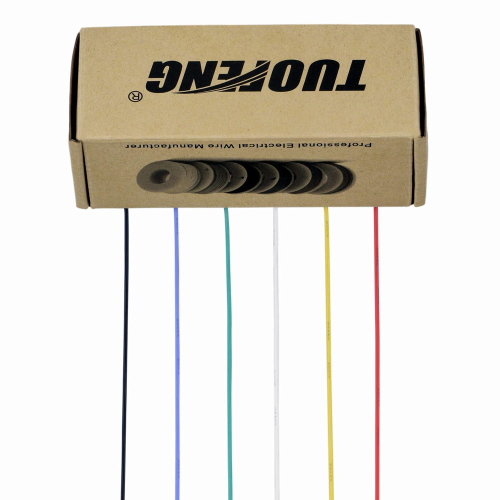 Image 5 - TUOFENG 18AWG Electrical Wire, Hook up Wire Kit 18 Gauge Flexible Silicone Wire(6 Different Colored 4 Meter spools) 600V-in Wires & Cables from Lights & Lighting