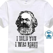 f4d550d6ccec7 Карла Маркса капитализм коммунизм Футболка 100% хлопок социализм Марксизм  Новинка крутые Топы Для мужчин короткий