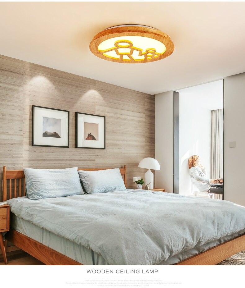 US $186.0 |Nordic round neck LED ceiling light happy modern simple creative  room bedroom lights children room ceiling lamps-in Ceiling Lights from ...