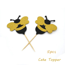 Omilut Bumble Bee Party Decoration Cake Topper What Will It Birthday Banner Wedding Supplies