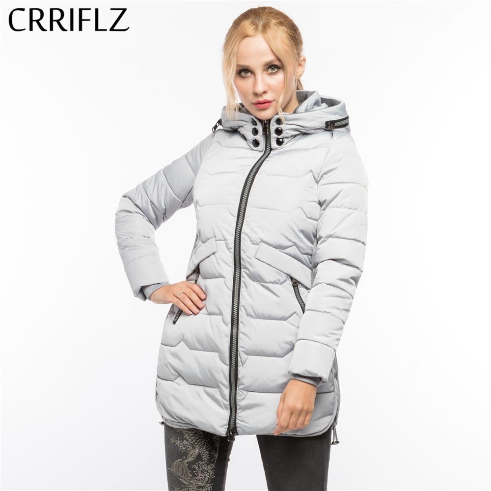 High Quality Fashion Warm Winter Jacket Women Hooded Coat Down Parkas Female Outerwear CRRIFLZ 2017 New Winter Collection цены онлайн
