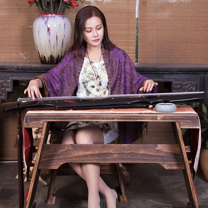 Qualité supérieure Guqin Fuxi-Vieux type Paulownia 7 Cordes Guqin Maître Recommandé Pour Les Débutants Pratique Professionnelle Chinois Cithare