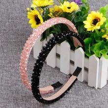 Girls Women Bling Rhinestone Crystal Hair Band Headband Head Piece Chain Jewelry