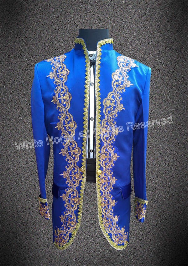 Tailcoat font b jacket b font mens top pantalones erkek takim elbise traditional men blazer blue