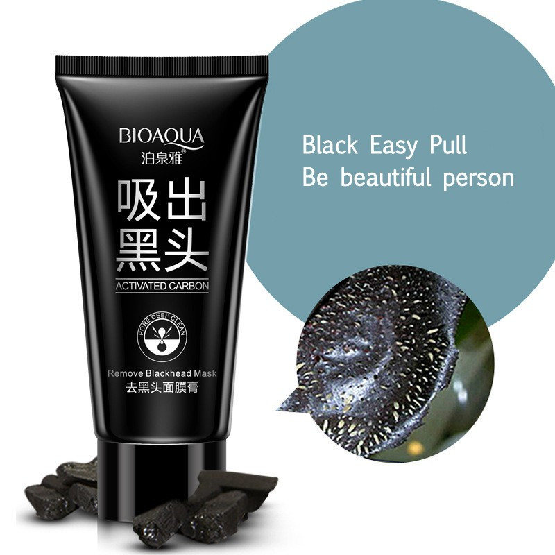 BIOAQUA Skin Care Black mud Facial face mask Deep Cleansing purifying Remove blackhead facial mask strawberry nose Acne remover 12