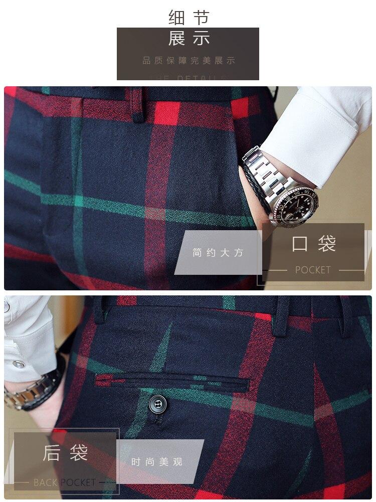 3f74a21ceb0 Dropwow Red Plaid Trousers Men Mens Plaid Suit Trousers Men Dress ...