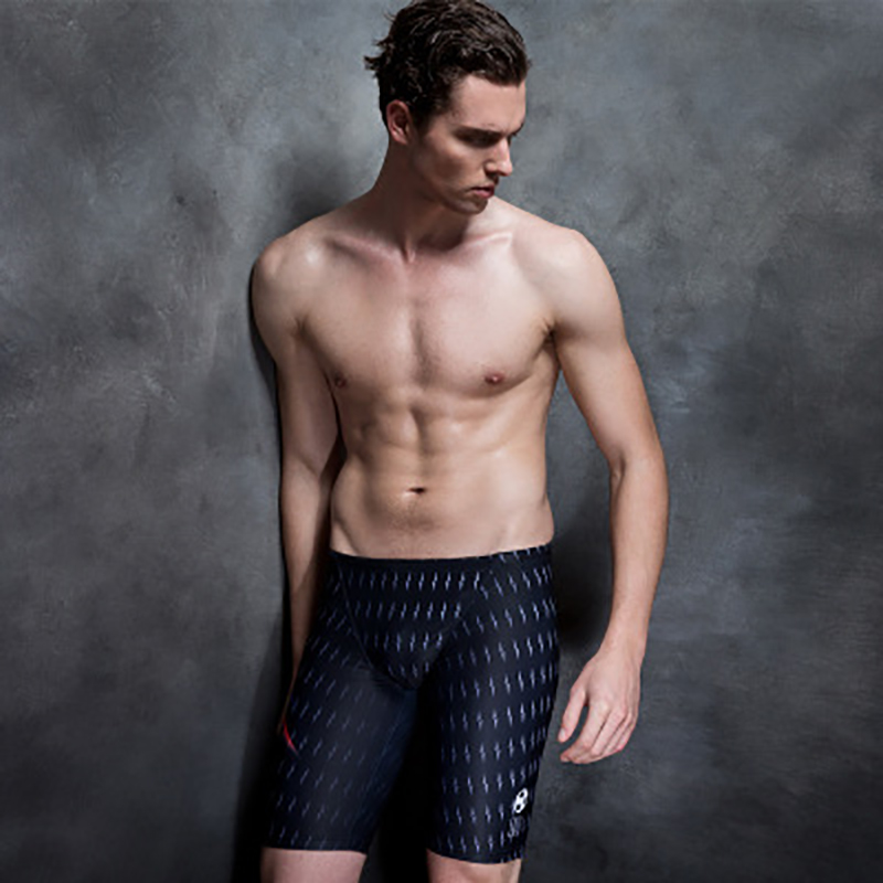 2018 new men's swimming trunks professional racing comfortable breathable anti chloride fast dry plain swimming pants