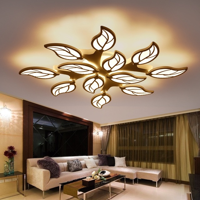 Modern Creative Foliage LED Ceiling Light Living Room Bedroom Study Room Lamp Office & Commercial Interior Ceiling lamp 110-240V