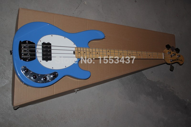 Free shipping Standard Music 4 strings bass music man stingRay electric bass guitar with 9 V Battery INITIATIVE TO pickups 1112