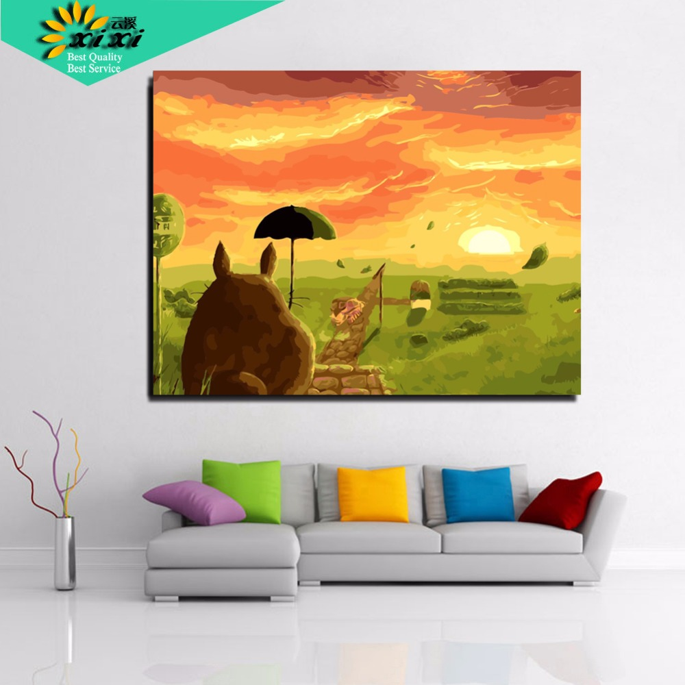 canvas paintings home decoration oil painting by numbers pictures ...