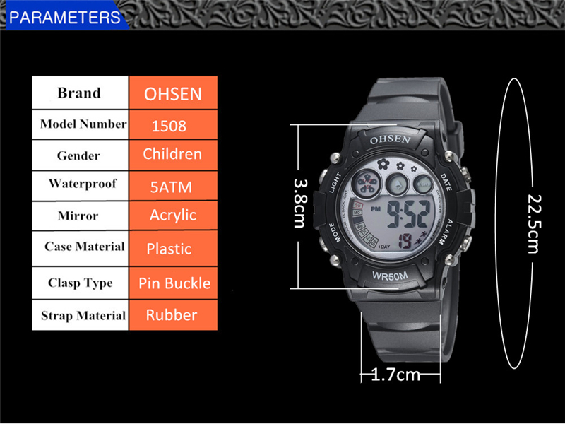 New Ohsen Unisex Watch Fashion Casual Watches Relogio Masculino Students Sports For Men Women Water Resistant Alarm Wristwatches (39)