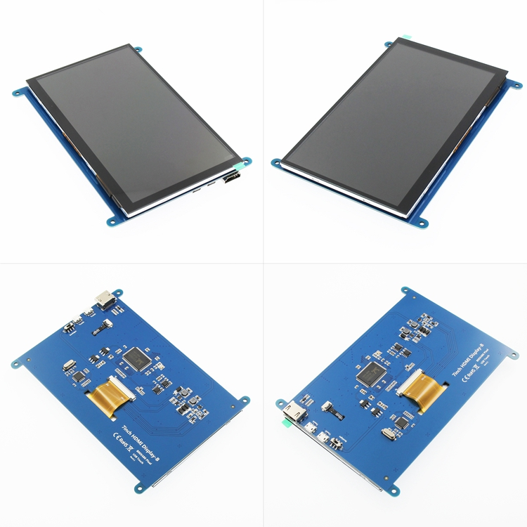 1pcs <font><b>7</b></font> <font><b>inch</b></font> Raspberry Pi 3 Model B+ <font><b>LCD</b></font> Display Touch Screen <font><b>LCD</b></font> 800*480 HDMI TFT Monitor image