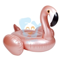 1.5m Inflatable Pool Float Rose Gold Flamingo Swimming Pool Float Inflatable Ride on Water Toys Beach Fun Flotador Piscina