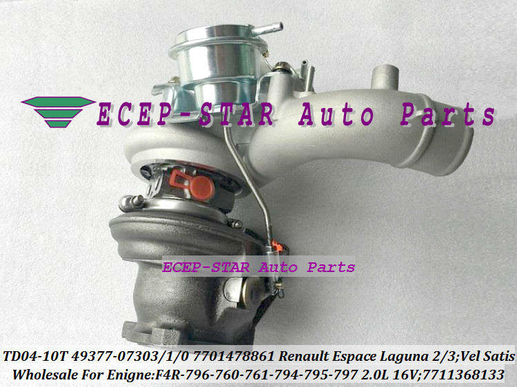 TD04-10T-8.5 49377-07303 49377-07301 49377-07300 7701478861 7711368133 Turbo For Renault Espace Laguna 2 3 Vel Satis 2001- F4R 796 2.0L 16V (4)