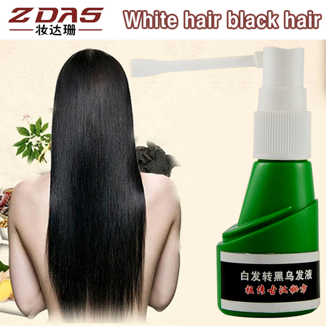 2 pcs traditional Chinese medicine cure white hair turn gray black liquid governance juvenile white Hair Loss Product Treatments