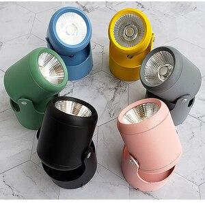 Светодиодный светильник COB 3 Вт/5 Вт/7 Вт/12 Вт/15 Вт, регулируемый Точечный светильник, фотолампа, поверхностный монтаж, светильник для гостиной