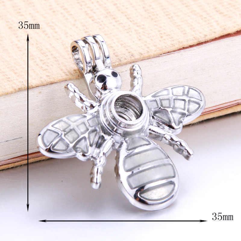 6 sztuk pszczoła/osa perła klatka naszyjnik wisiorek rozpylacz zapachów tworzenia biżuterii prezent na boże narodzenie dla kobiet naszyjnik moda