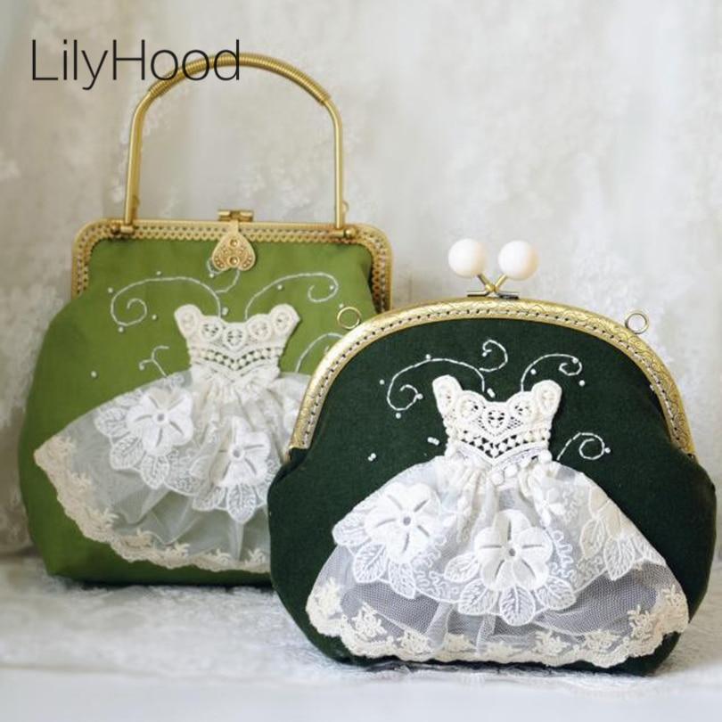 buy lilyhood 2017 women shabby chic lace shoulder bag handmade vintage retro. Black Bedroom Furniture Sets. Home Design Ideas