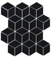 3D черный Мозаичная плитка фарфоровая, Diamond design керамическая стикер стены, туалет Bathroon стены пол/Кухня щитка плитки, 3D4803
