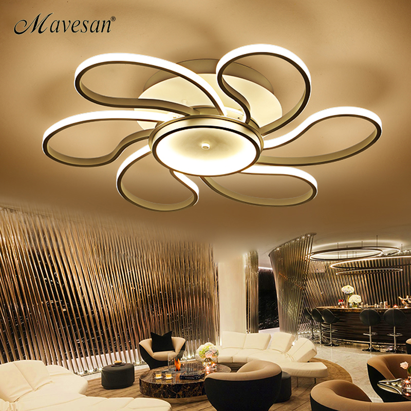2018 New bedroom led ceiling lights for 10-15square meters restaurant indoor light luminarias para sala Remote control modern