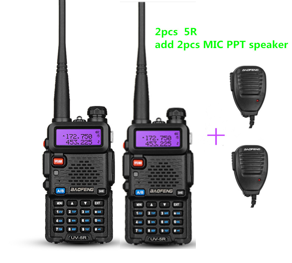 2 PCS Baofeng UV-5R CB radio VOX 10Km Talkie Walkie paire Deux Way radio communicateur pour Équipement De Police Interphone UV 5R