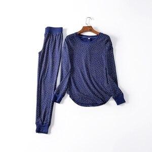 Image 5 - Fdfklak yeni bayanlar loungewear ev giysileri pijama kadın pijama pijama takımı bahar sonbahar uzun kollu pijama Q1542
