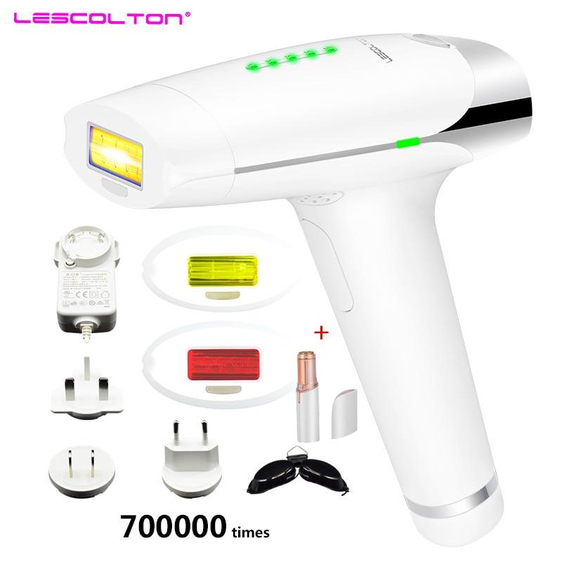 Original lescolton t009 dispositivo da remoção do cabelo do laser do ipl remoção permanente do cabelo a laser ipl depilador axila remoção do cabelo