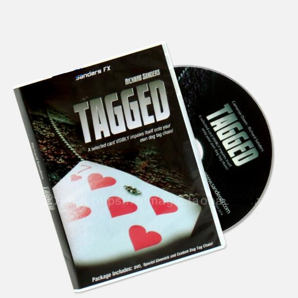 Tagged By <font><b>Richard</b></font> <font><b>Sanders</b></font> (DVD And Gimmick) Street Magic Gimmicks,Easy Magic Tricks,Close Up Magic Props image