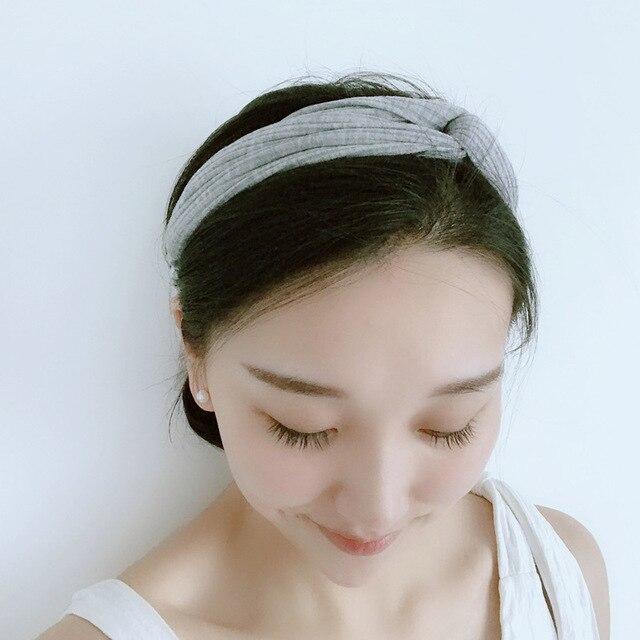 2018 knitting cross headbands silk knot turban women