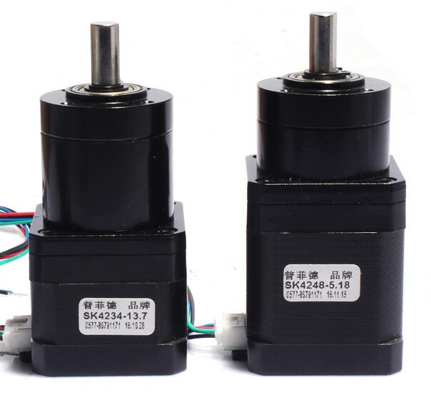 цена на New Best Gear ratio 27:1 Planetary Gearbox stepper motor Nema 17 1.7A Geared Stepper Motor 3d printer stepper motor