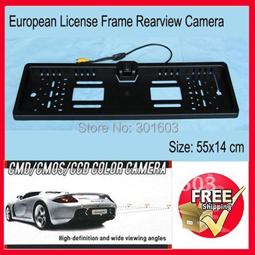 Car License Frame Rearview Camera