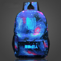 Attack On Titan Backpack Japan Anime Printing School Bag For Teenagers Cartoon Travel Bag Nylon Sports