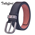 HOT SALE 2016 Famous Brand  TALLEFFORT Marcas Luxury Belt Men cowboy Male Waist Strap Leather Alloy Buckle long strap