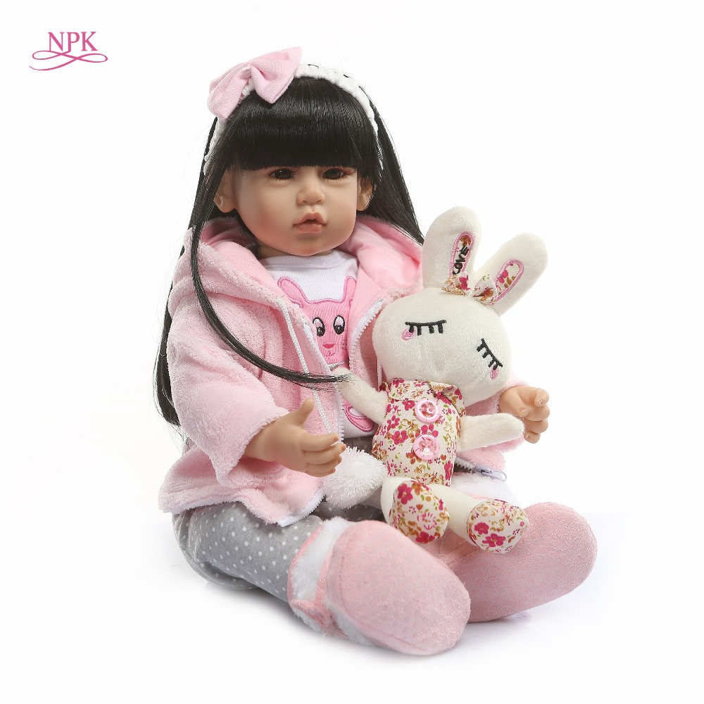 NPK Latest new 50cm Silicone Reborn Boneca Realista Fashion Baby Dolls For Princess Children Birthday Gift