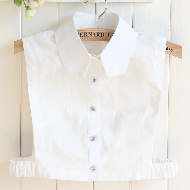 Designer Cotton Woman Collar Detachable Shirt Doll Half Bouse Tunic Slim Fake collar for Sweater Accessories Faux cols Feminia