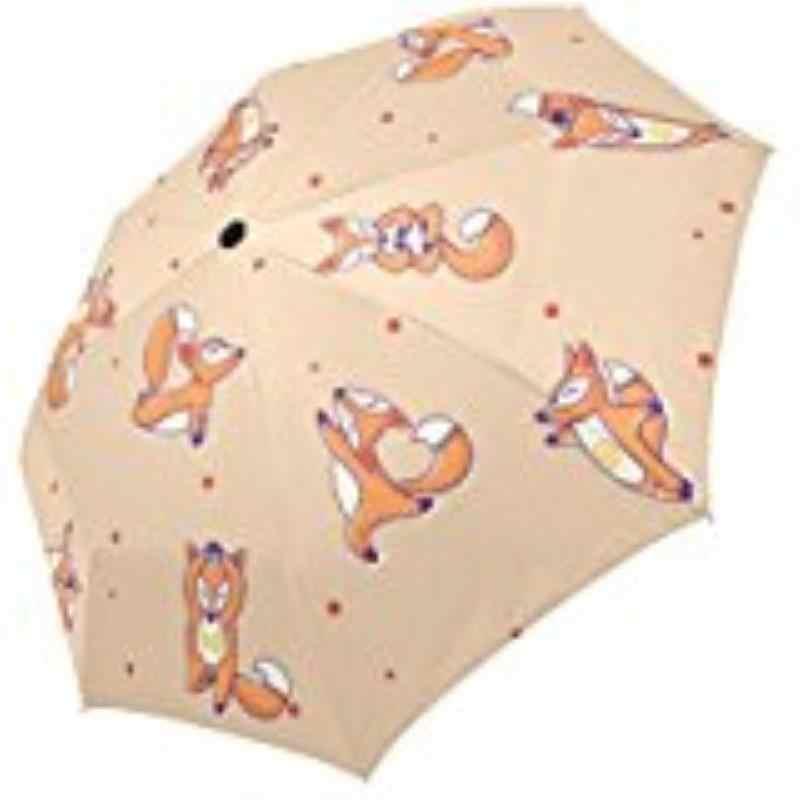 1db3c116a23a Cute Fox Polka Storm-Resistant Custom Foldable Umbrella Foldable Sun Rain  100% Fabric Aluminium High-Quality Foldable Umbrella