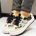 2016 new fashion printed women casual shoes