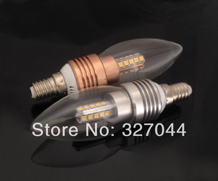 Free Shipping drop shipping 10X 5W 2835 SMD 450lm Epistar E14 LED Candle light led bulb lamp cool/warm white CE&ROHS AC110V~240V