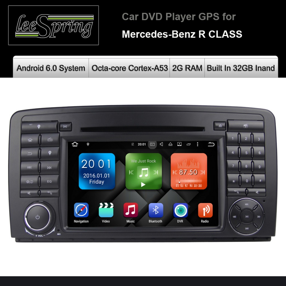 Android 6 0 car dvd player for mercedes benz r class w251 r280 r300 r320 r350 gps