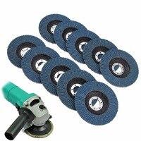 10pcs Mayitr Premium Zirconia 60 Flap Disc Sanding Grinding 4 1 2 7 8 60 Grit