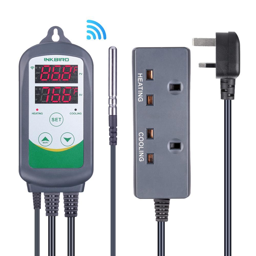 Inkbird ITC-308 UK Plug WIFI LCD écran régulateur de température chauffage refroidissement Thermostats thermorégulateur pour incubateur