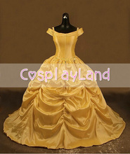 Beauty and the Beast Belle Adult Cosplay Costume Gown Princess Dress for Women Custom Made Halloween Belle Princess Costume все цены
